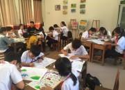 Trường TH&THCS Đại Sơn hưởng ứng Cuộc thi vẽ tranh về biến đổi khí hậu
